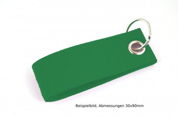 Schlüsselanhänger aus Filz in Grün - Schlaufe ca. 120x30mm - made in Germany