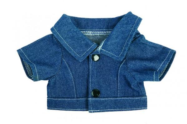 Jeans-Jacke für Plüschtiere Gr. M - dunkelblau (Größe: passend für Plüschtiere) - optional mit Siebd