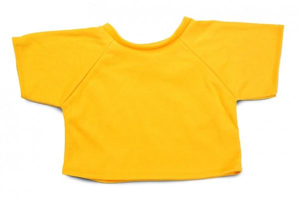 Mini-T-Shirt Gr. XL - gelb (Größe: passend für Plüschtiere) - optional mit Siebdrucktransfer