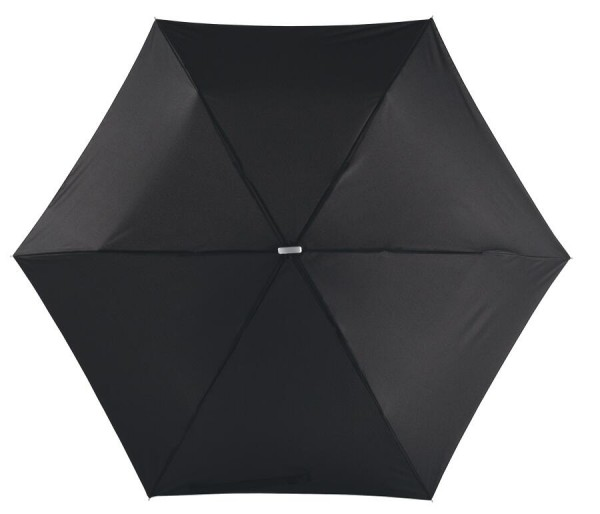 Flacher Mini-Taschenschirm FLAT in schwarz