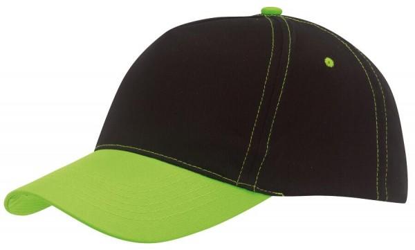 5-Panel-Baseball-Cap SPORTSMAN in grün, schwarz