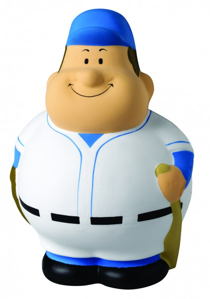 SQUEEZIES® Baseball Bert® - bunt (Größe: ca. 10 cm) - optional mit Tampondruck