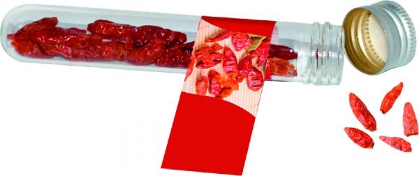 Reagenzglas Chili, 1-4 c Digitaldruck inklusive