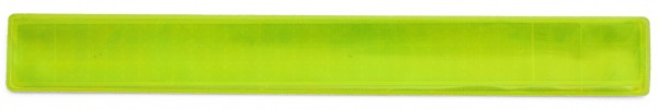 Reflexband mit Metallfeder S - neongelb (Größe: ca. 25 cm) - optional mit Siebdruck