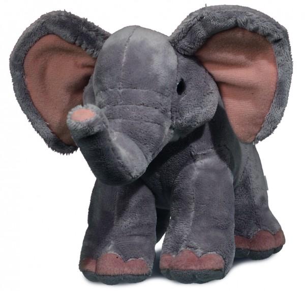 Plüsch Elefant Vitali - grau (Größe: ca. 17 cm) - optional mit Siebdrucktransfer, Direkttransfer