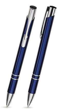 LIBO Tiefblau-Violett glänzender Metallkugelschreiber