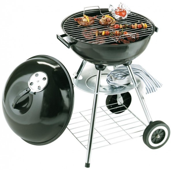 Runder Barbecue-Grill MASTER in schwarz