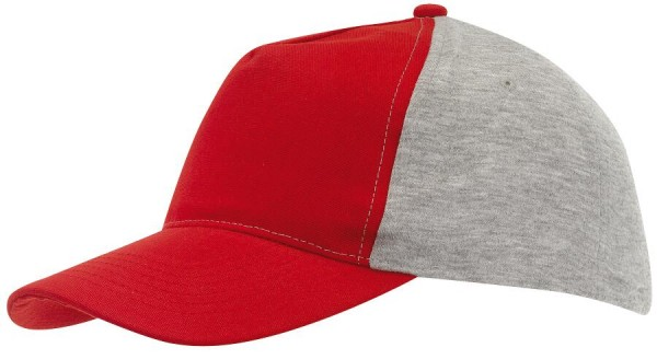 5-Panel-Baseball-Cap UP TO DATE in rot, grau