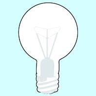 Weichplastiksticker Glühbirne - neongelb (Größe: ca. 6,9 cm) - optional mit Siebdrucktransfer