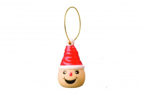 Wanderuper Weihnachtswichtel lachend - bunt (Größe: ca. 4 cm)
