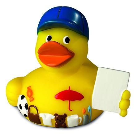 Quietsche-Ente Werbemittel - gelb (Größe: ca. 8 cm) - optional mit Tampondruck