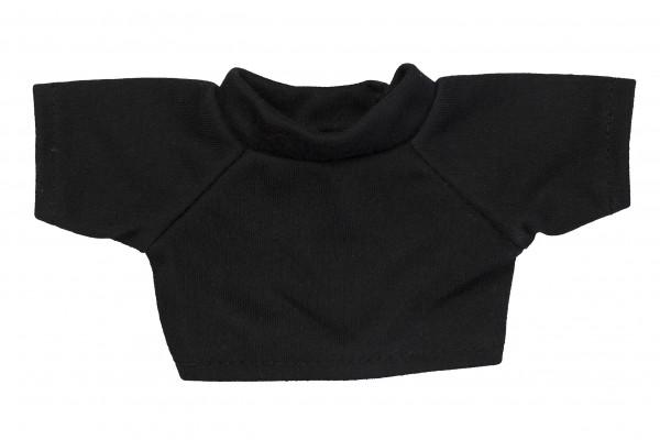Mini-T-Shirt Gr. S - schwarz (Größe: passend für Plüschtiere) - optional mit Siebdrucktransfer