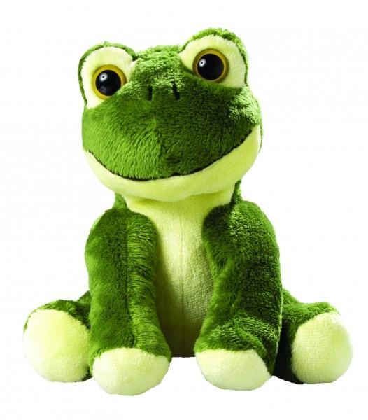 Zootier Frosch Arwin - grün (Größe: ca. 18 cm) - optional mit Siebdrucktransfer, Direkttransfer