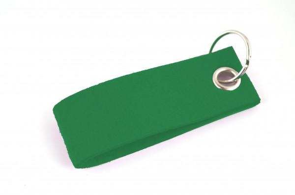 Schlüsselanhänger aus Filz in Grün - Schlaufe ca. 30x90mm - made in Germany