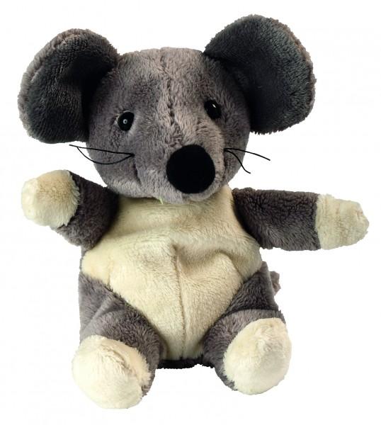 Plüsch Maus Vivien - grau (Größe: ca. 14 cm) - optional mit Siebdrucktransfer, Direkttransfer