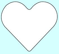 Weichplastiksticker Herz - neongelb (Größe: ca. 5,3 cm) - optional mit Siebdrucktransfer