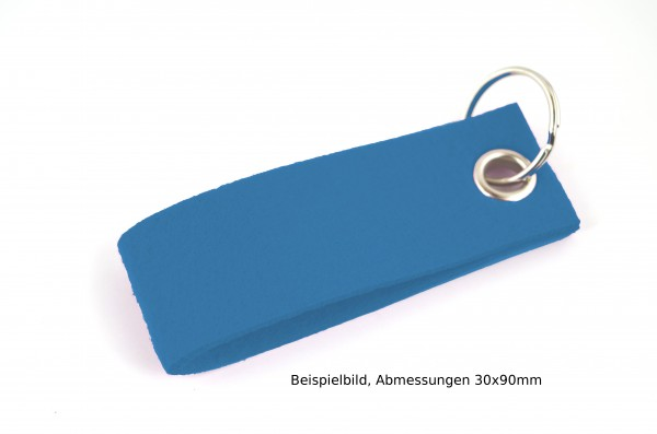 Schlüsselanhänger aus Filz in Blau - Schlaufe ca. 120x30mm - made in Germany