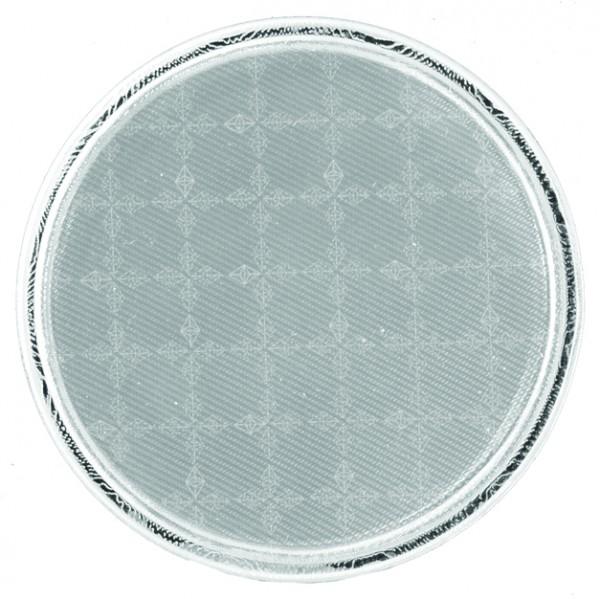 Weichplastiksticker Kreis - silber (Größe: ca. 7 cm) - optional mit Siebdrucktransfer