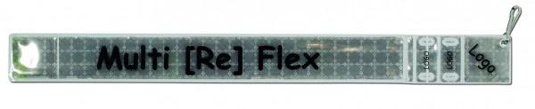 Multireflexband 3 in 1 - silber (Größe: ca. 31,5 cm) - optional mit Siebdruck