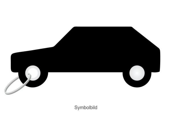 Filz Schlüsselanhänger - PKW - Auto - optional mit Schlüsselring / Werbekarte
