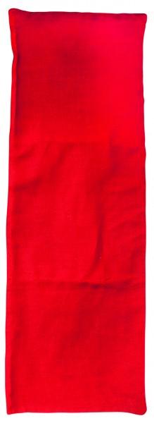 Getreidekissen/ Wärmekissen, klein - rot (Größe: ca. 30 cm) - optional mit Siebdrucktransfer