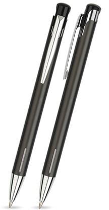 LAIKO Anthrazit glänzender Metallkugelschreiber