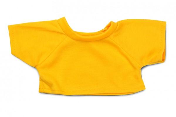 Mini-T-Shirt Gr. L - gelb (Größe: passend für Plüschtiere) - optional mit Siebdrucktransfer