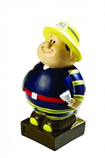 Spardose Feuer Bert® - bunt (Größe: ca. 20 cm) - optional mit Doming (für Spardose)