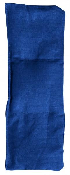 Getreidekissen/ Wärmekissen, klein - blau (Größe: ca. 30 cm) - optional mit Siebdrucktransfer