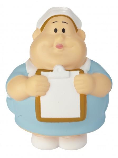 SQUEEZIES® Schwester Berta® - bunt (Größe: ca. 10 cm) - optional mit Tampondruck