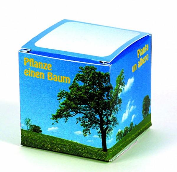 Würfel Baum Robinie (4-sprachig), 1-4 c Digitaldruck inklusive