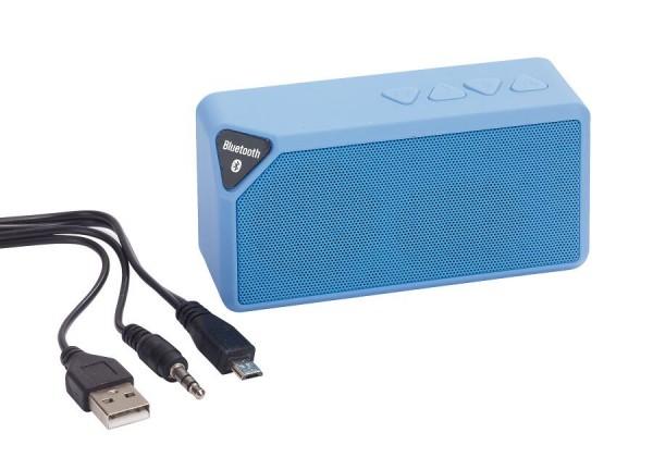 Bluetooth-Lautsprecher CUBOID in blau
