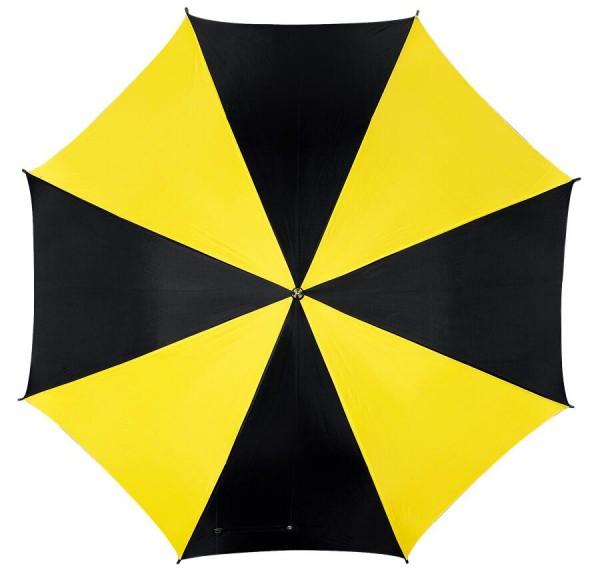 Automatischer Stockschirm DISCO in schwarz, gelb