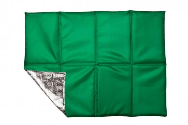 Sitzkissen faltbar, mit Hülle - grün - optional mit Siebdrucktransfer