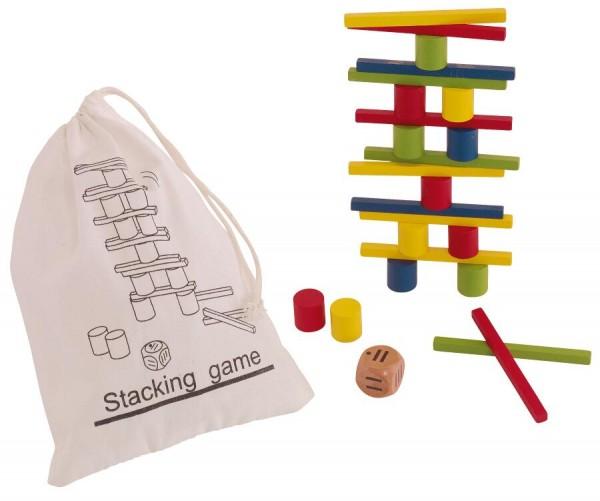 Geschicklichkeitsspiel STACKING in farbig