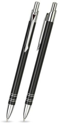 LOLA Schwarz glänzender Metallkugelschreiber