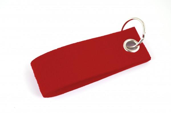 Schlüsselanhänger aus Filz in Rot - Schlaufe ca. 30x90mm - made in Germany