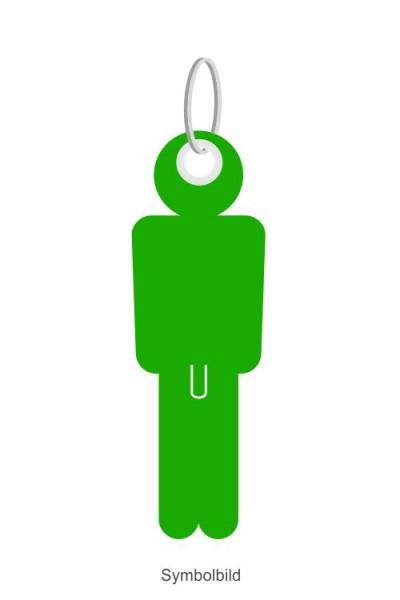 Filz Schlüsselanhänger - Mann - Er - optional mit Aufdruck / Schlüsselring / Werbekarte