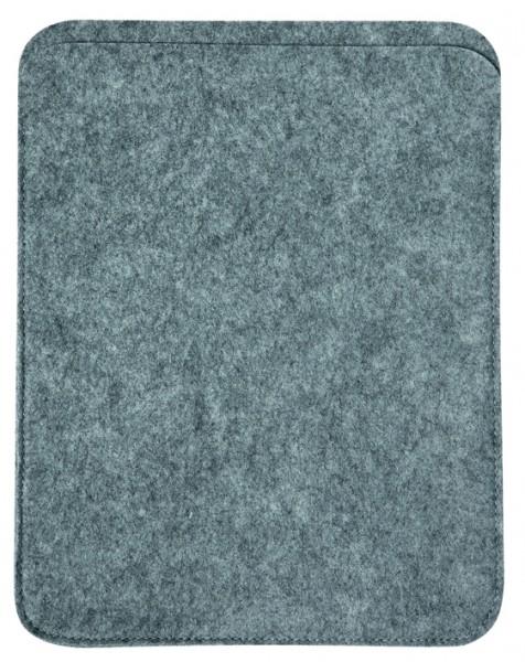 Polyesterfilz Tablet PC-Tasche (Filzstärke: ca. 2,5 mm) - hellgraumeliert - optional mit Siebdruckt