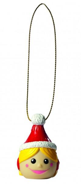 Wanderuper Weihnachtswichtelin blond - bunt (Größe: ca. 4 cm)