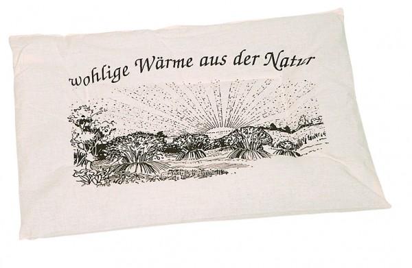 Getreidekissen/ Wärmekissen - natur (Größe: ca. 37 cm) - optional mit Siebdrucktransfer