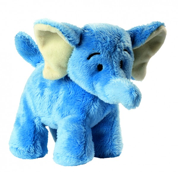 Plüsch Elefant Hannes - hellblau (Größe: ca. 14 cm) - optional mit Siebdrucktransfer, Direkttransfer