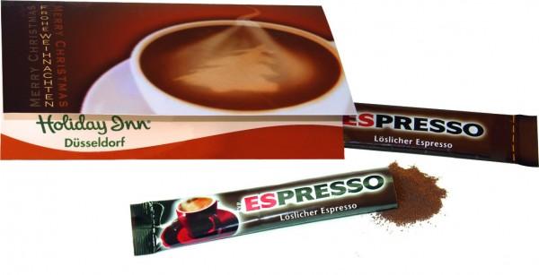 Klappkärtchen Kaffeepause, 1-4 c Digitaldruck inklusive