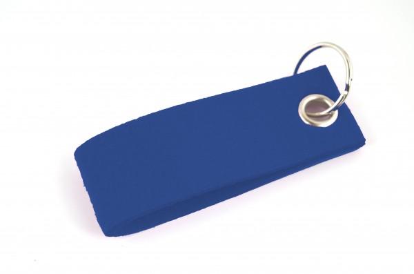 Schlüsselanhänger aus Filz in Royalblau - Schlaufe ca. 30x90mm - made in Germany