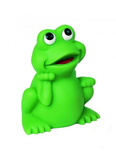 Quietsche-Frosch, klein - grün (Größe: ca. 4,4 cm) - optional mit Tampondruck