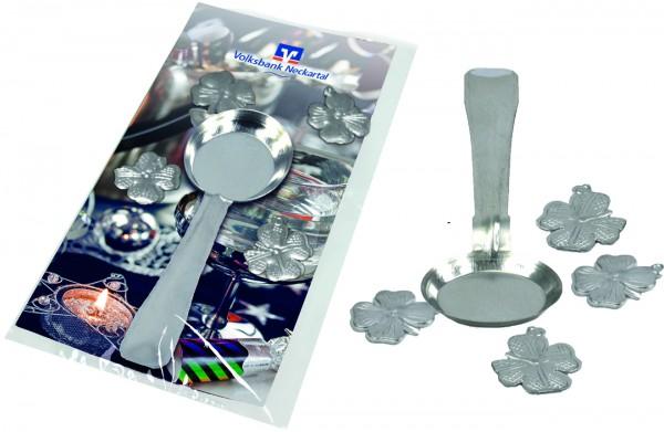 Bleigieß-Päckchen Glück, 1-4 c Digitaldruck inklusive