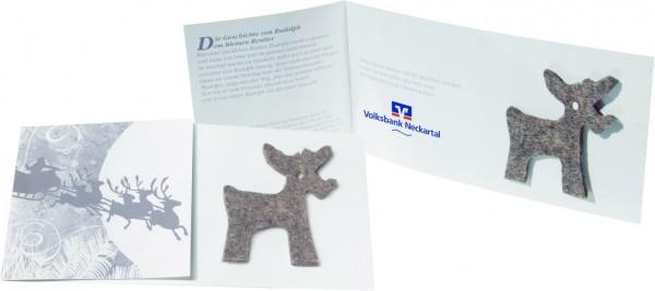 Rudolph's Karte, ohne Kuvert, 1-4 c Digitaldruck inklusive