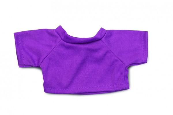 Mini-T-Shirt Gr. M - lila (Größe: passend für Plüschtiere) - optional mit Siebdrucktransfer