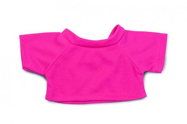 Mini-T-Shirt Gr. M - pink (Größe: passend für Plüschtiere) - optional mit Siebdrucktransfer