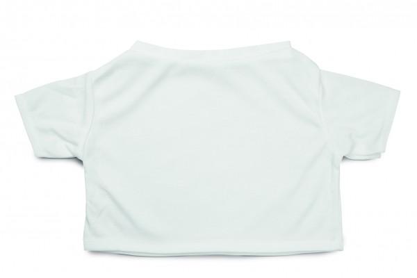 Mini-T-Shirt Gr. XXL - weiß (Größe: passend für Plüschtiere) - optional mit Siebdrucktransfer, Direk